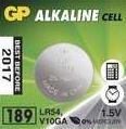 Baterie GP Alkaline 189, LR54, LR1130, AG10 1,5V, (Blistr 1ks)