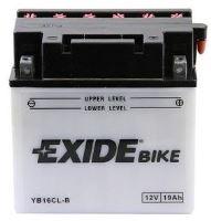 Motobaterie EXIDE BIKE Conventional 19Ah, 12V, 240A, YB16CL-B