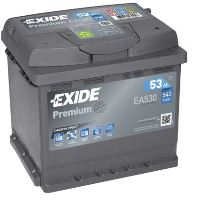 Autobaterie EXIDE Premium, 12V, 53Ah, 540A, EA530, Carbon Boost