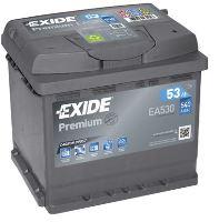 Autobaterie EXIDE Premium, Carbon Boost, 12V, 53Ah, 540A, EA530