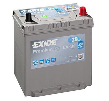 Autobaterie EXIDE Premium, Carbon Boost, 12V, 38Ah 300A, EA386