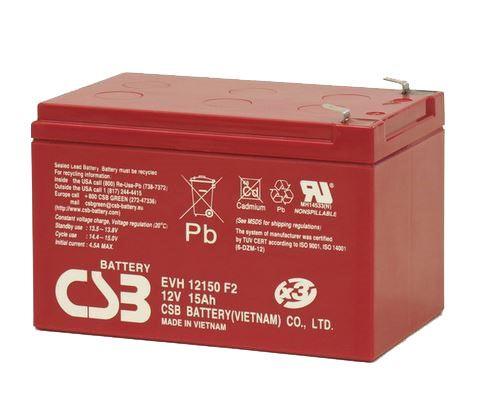 Akumulátor (baterie) CSB EVH12150 F2, (6-DZM-12), 12V, 15Ah, Faston 250, široký