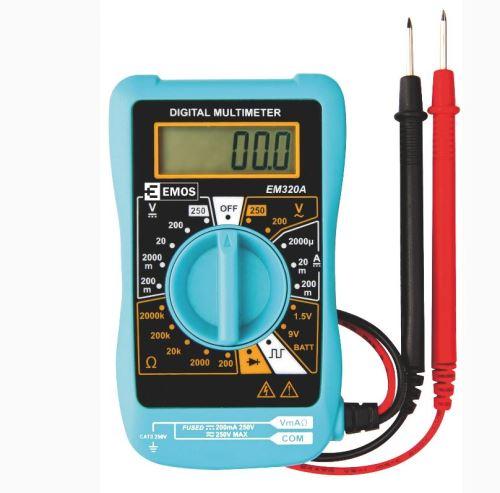 Měřící přístroj - Digitální multimetr (voltmetr) M0320 s testem baterií a diod