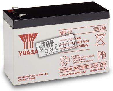 Záložní akumulátor (baterie) Yuasa NP 7-12 (7Ah, 12V)
