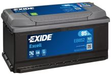 Autobaterie EXIDE Excell 12V, 85Ah, 760A, EB852