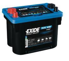 Trakční baterie EXIDE DUAL AGM, 12V, 50Ah, 750A, EP450