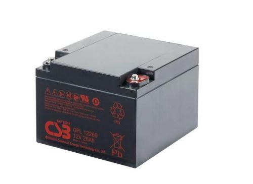 Akumulátor (baterie) CSB GPL12260, 12V, 26Ah, závit M5