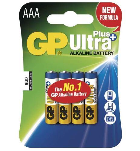 Baterie GP 24AUP Ultra Plus Alkaline, R03, AAA, (Blistr 4ks)