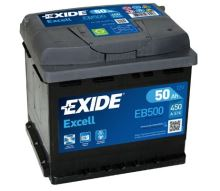 Autobaterie EXIDE Excell 12V, 50Ah, 450A, EB500