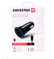 CL (auto) nabíječka Swissten 20111100 Micro USB 1A, pro všechny značky