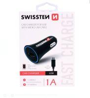 CL (auto) nabíječka Swissten Micro USB 1A, pro všechny značky