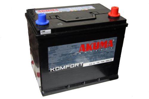 Autobaterie Akuma Komfort 12V, 75Ah, 640A, 7905550 -  Japan Pravá