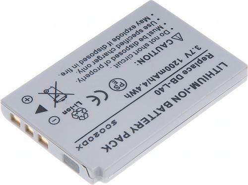 Baterie Sanyo DB-L40, 3,6V (3,7V), 1200mAh, 4,4Wh