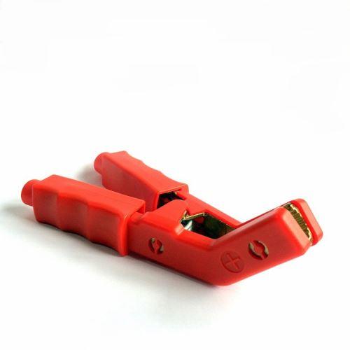 Kleště bateriové zahlé 650A, červené