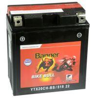 Motobaterie Banner Bike Bull AGM YTX20CH-BS, 12V, 18Ah, Levá