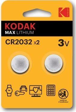Baterie Kodak Max CR2032, Lithium, 3V, (Blistr 2ks)