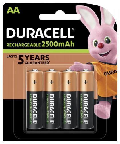 Baterie Duracell Stay Charged, HR6, AA, 2500mAh, nabíjecí, DURSTAYAA2400 (Blistr 4ks)