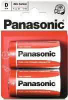 Baterie Panasonic zinco-carbon, R20RZ, D, (Blistr 2ks)