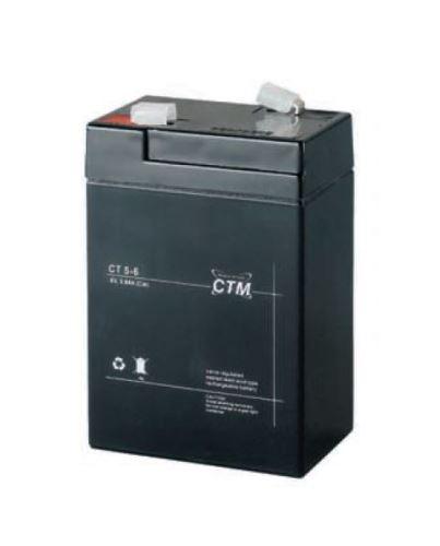 Akumulátor (baterie) CTM/CT 6-5 (5Ah - 6V - Faston 187)