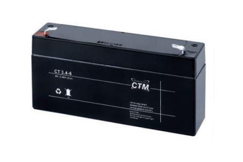 Akumulátor (baterie) CTM/CT 6-3,4 (3,4Ah - 6V - Faston 187)