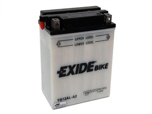 Motobaterie EXIDE BIKE Conventional 12Ah, 12V, 170A, YB12AL-A2
