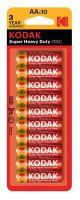 Baterie Kodak R6, AA, Zinc, 1,5V, (Blister 10ks)