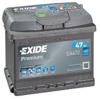 Autobaterie EXIDE Premium, Carbon Boost, 12V, 47Ah, 450A, EA472