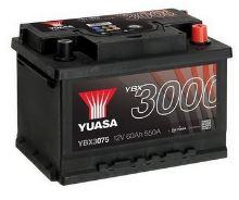 Autobaterie Yuasa YBX3000, 60Ah, 12V, 550A (YBX3075)