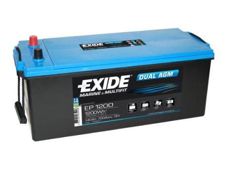 Trakční baterie EXIDE DUAL AGM, 12V, 140Ah, 700A, EP1200