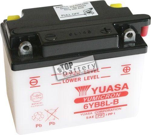 Motobaterie Yuasa 6YB8L-B, 6V, 6Ah