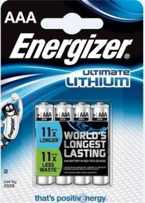 Baterie Energizer Ultimate AAA, L92, Lithium, (Blistr 4ks)