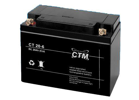 Akumulátor (baterie) CTM/CT 6-20 (20Ah - 6V - M5)