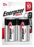 Baterie Energizer Max LR20, D, alkaline, E300129200 (Blistr 2ks)