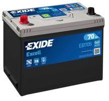 Autobaterie EXIDE Excell 12V, 70Ah, 540A, EB705 - Levá