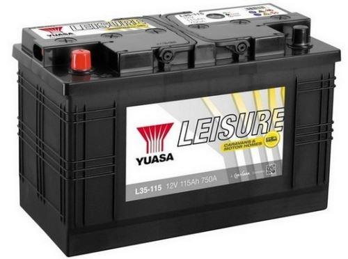 Trakční baterie GS-YUASA Leisure 115Ah, 12V, 750A, baterie pro volný čas