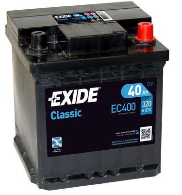 Autobaterie EXIDE Classic, 12V, 40Ah, 320A, EC400