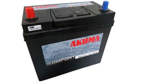 Autobaterie Akuma Komfort 12V, 45Ah, 360A, 7905543 - Japan Levá