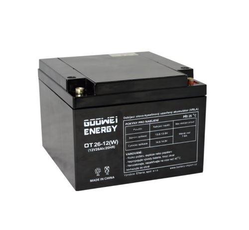 Trakční (gelová) baterie Goowei OTL26-12(W), 26Ah, 12V ( VRLA )
