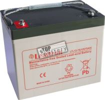 Akumulátor (baterie) Leaftron LTL12-75, 12V - 75Ah