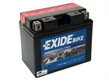 Motobaterie EXIDE BIKE Maintenance Free 11Ah, 12V, 230A, YTZ14-BS (náhrada za YTZ12-BS)