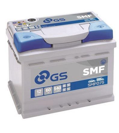 Autobaterie GS SMF/Yuasa 60Ah, 12V, 540A, SMF075