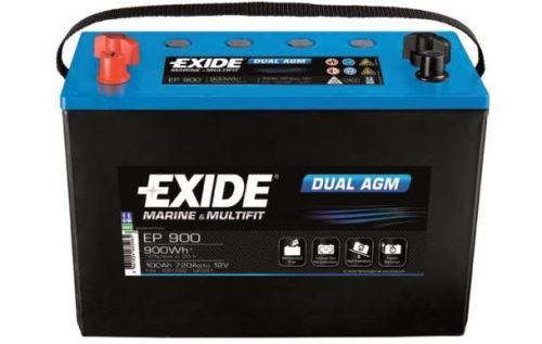Trakční baterie EXIDE DUAL AGM, 12V, 100Ah, 720A, EP900