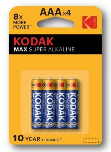 Baterie Kodak Max, LR03, AAA, Alkaline, (Blistr 4ks)