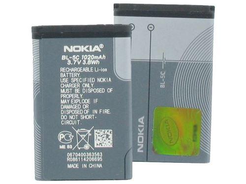 Baterie Nokia BL-5C, 1020mAh, Li-ion, originál (bulk)