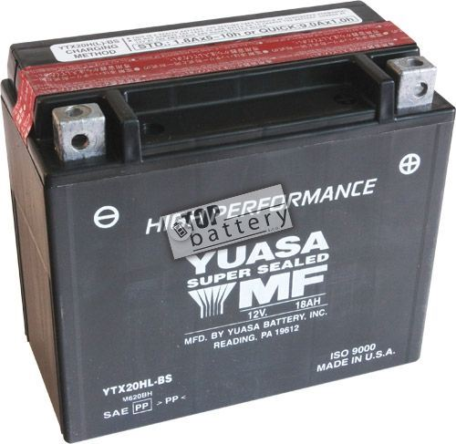 Motobaterie YUASA YTX20L-BS, 12V, 18Ah