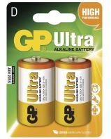 Baterie GP 13AU Ultra Alkaline, R20, D, (Blistr 2ks)