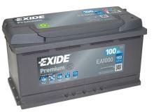 Autobaterie EXIDE Premium, Carbon Boost, 100Ah, 12V, 900A, EA1000