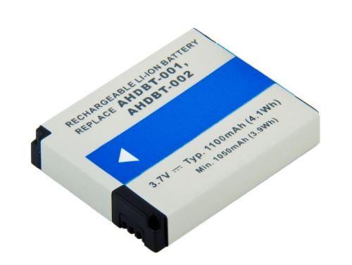 GoPro AHDBT-001, AHDBT-002, 3,7V, 1100mAh, 4,1Wh, Li-Ion