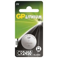 Baterie GP CR2450, Lithium 3V, (Blistr 1ks)