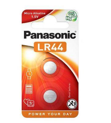 Baterie Panasonic Alkaline LR44, AG13, 357, 1,5V,  (Blistr 2ks)